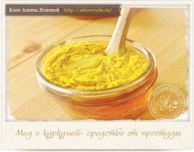 Миниатюра к статье Куркума с медом -сильнейшее противопростудное и противовспалительное средство