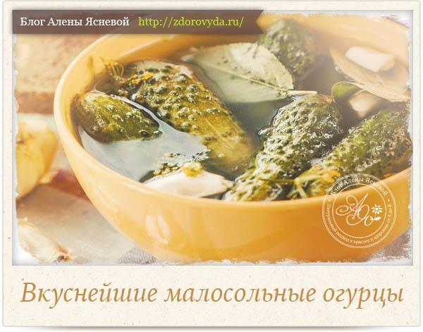 Малосольные огурцы самый вкусный рецепт