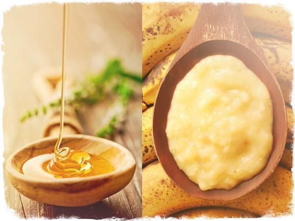 Маска мед и банан для волос
