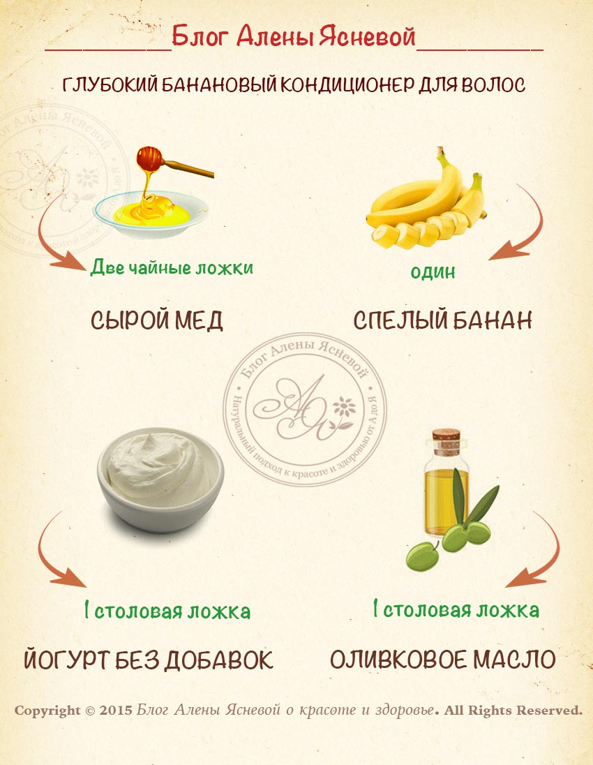 банановый кондиционер для волос